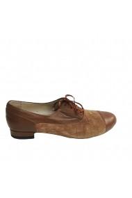Pantofi oxford Veronesse piele naturala maron