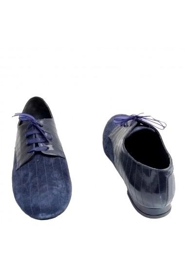 Pantofi oxford Veronesse piele naturala bleumarin
