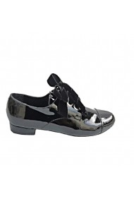 Pantofi oxford Veronesse piele naturala lacuita negru