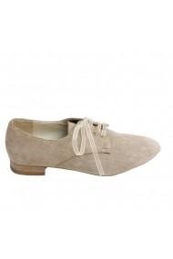 Pantofi oxford Veronesse piele naturala nude