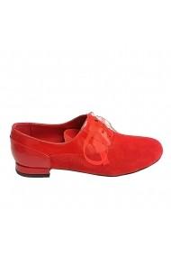 Pantofi oxford Veronesse piele naturala rosu