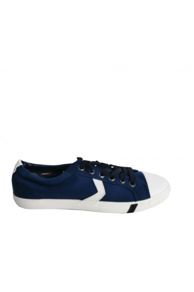 Pantofi sport Veronesse material textill bleumarin cu talpa alba