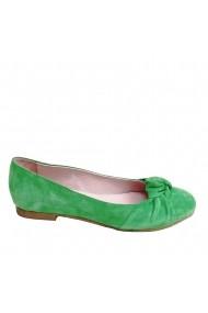 Balerini Veronesse piele naturala verde