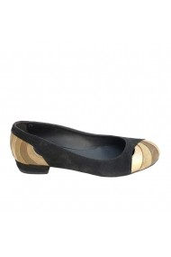 Balerini Veronesse piele naturala negru auriu