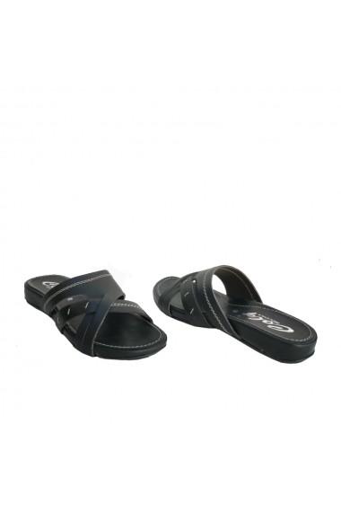 Papuci Veronesse piele naturala negru