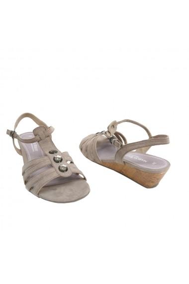 Sandale plate Veronesse cu talpa ortopedica grej