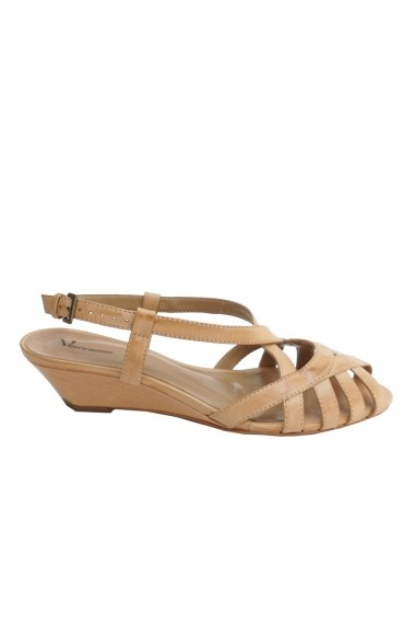 Sandale plate Veronesse piele naturala maron
