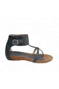 Sandale plate Veronesse piele naturala bleumarin