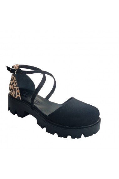Sandale cu toc Veronesse animal print
