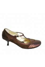 Pantofi cu toc Veronesse piele naturala maron