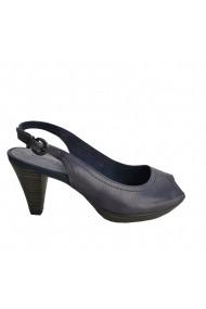 Sandale cu toc Veronesse piele naturala bleumarin