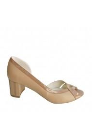 Sandale cu toc Veronesse piele naturala maron