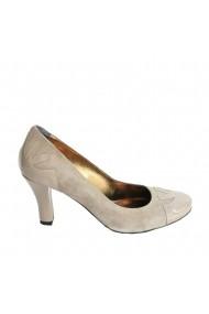 Pantofi cu toc Veronesse piele naturala nude