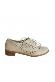 Pantofi sport Veronesse material perforat nude