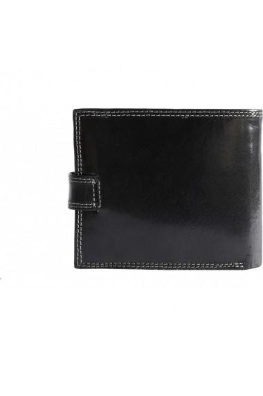Portofel barbati Coveri Collection din piele naturala, negru, Y100