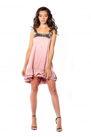 Rochie mini Carolina D ARUBA din plus roz