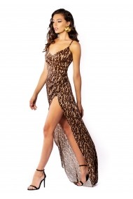 Rochie lunga Carolina D Be That Girl special edition - Animal Print