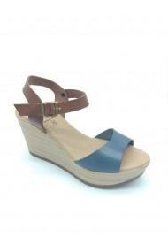 Sandale Paraiso din piele naturala si platforma Albastre