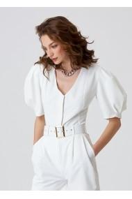 Top Alina Cernatescu Bell Classic White