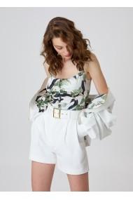 Pantaloni scurti Alina Cernatescu City Classic White