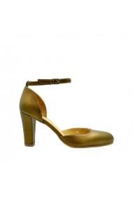 Sandale cu toc Rico piele naturala Bronze