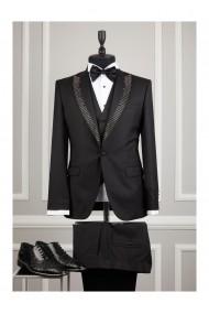 Costum barbat Moda Aliss CCM012 Negru