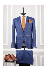 Costum barbat Moda Aliss CCM001 Albastru