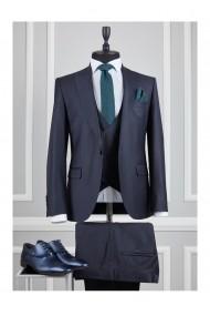 Costum barbat Moda Aliss CCM002 Albastru