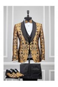 Costum barbat Moda Aliss CCM003 Auriu