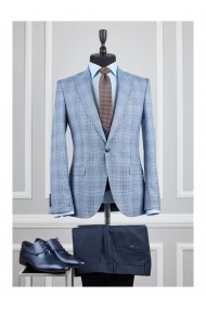Costum barbat Moda Aliss CCM005 Bleu