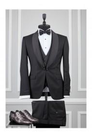 Costum barbat Moda Aliss CCM011 Negru