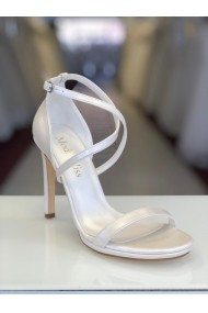 Sandale de mireasa cu toc Moda Aliss SD006 Alb