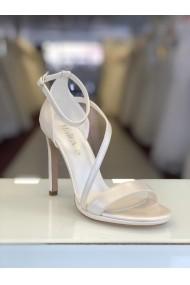 Sandale de mireasa cu toc Moda Aliss SD007 Alb