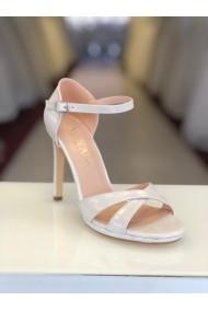 Sandale de mireasa cu toc Moda Aliss SD009 Alb