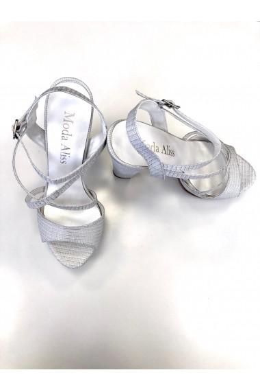 Sandale cu platforma Moda Aliss SD011 Argintiu