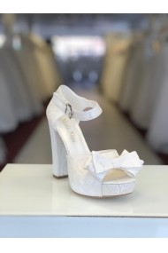 Sandale cu platforma si fundita detasabila Moda Aliss SD012 Alb