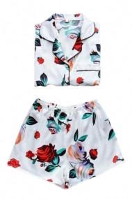 Pijama scurta Adrom Collection cu flori