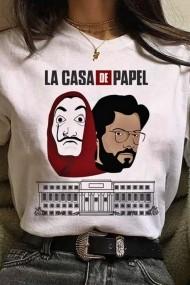 Tricou alb Adrom Collection Casa del Pape