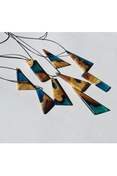 Pandativ Opaline Crafts din lemn de dud si rasina Albastru