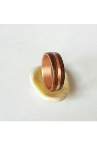 Inel Opaline Crafts cupru cu lemn de Mahon