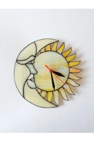 Ceas Opaline Crafts pentru perete sticla vitraliu lucrat manual