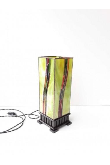 Veioza Opaline Crafts din sticla de Vitraliu