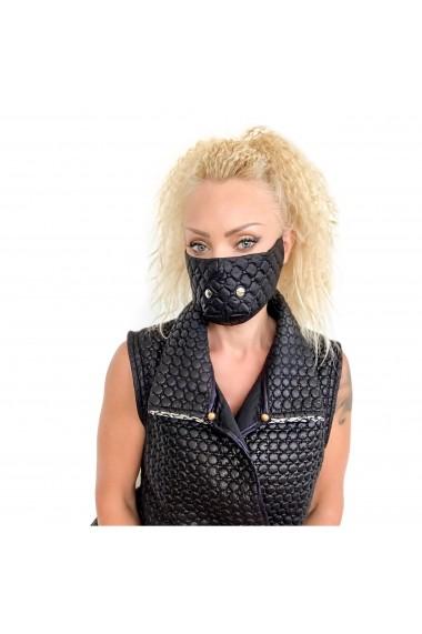 Fashion Mask cu detalii metalice