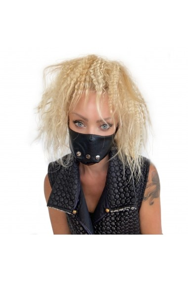 Fashion Mask din piele ECO cu detalii metalice