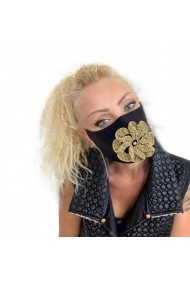 Fashion Mask Gold Flower