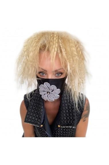 Fashion Mask Silver Flower