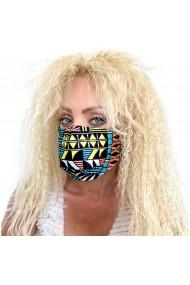 Fashion Mask din bumbac cu imprimeuri geometrice