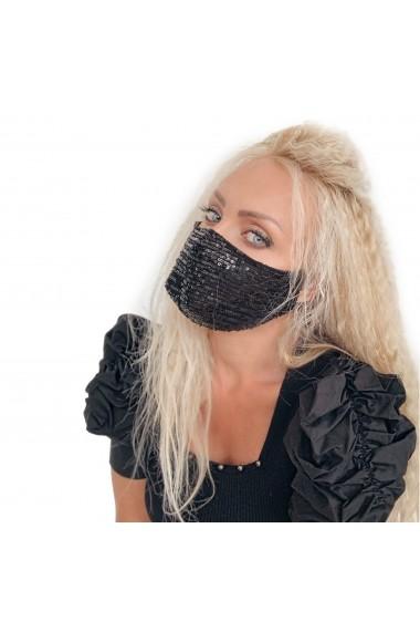 Fashion Mask cu paiete negre