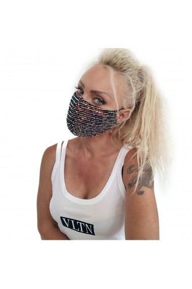 Fashion Mask cu paiete colorate