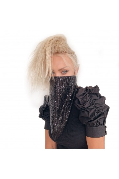 Masca Esarfa neagra cu paiete